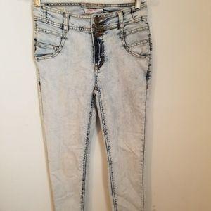 Hot Kiss Acid wash Skinny Jeans